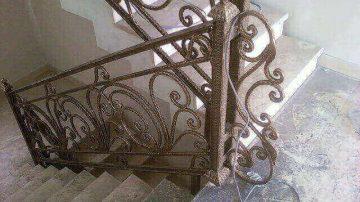 ساخت نرده راه پله فلزی و فرفورژه